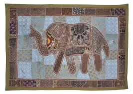 image is loading 60 034 indian tapestry elephant patchwork embroidered wall