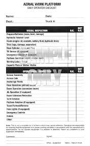 Inspection Form Forklift Inspection Checklist Book The Checklist Caddy