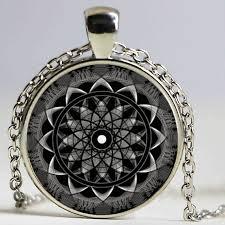 whole hot 2016 black indian flower pendant nec