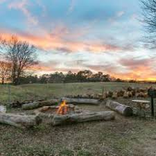 rustic fire pit. Rustic Fire Pit With Log Seating R