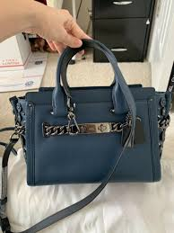 nwt coach swagger 27 in glovetanned leather willow fl detail mineral 59091
