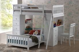 Huckleberry Loft Bunk Beds For Kids With Storage & Desk Iore ...