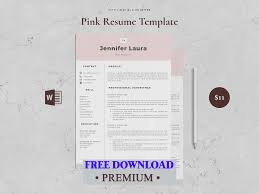 Award Winning Modern Resume Templates Free Download Free Premium Download Resume Template 4 Page Pink By