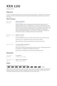 Personal Banker Resume Examples Delectable Personal Banker Sample Resume Kenicandlecomfortzone