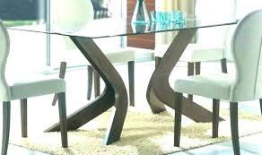 glass top dining table with wood base set coffee dark wooden bases glass top for dining