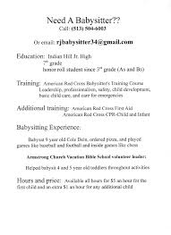 resume for a babysitting job company profile template construction resume for a babysitting job
