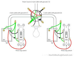 3 gang 1 way light switch diagram how to wire a single between switches power via