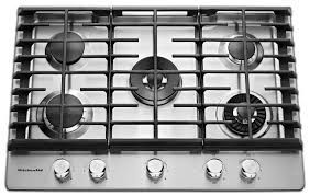 kitchen gas stove. Cooking Products - KitchenAid Gas Cooktop KCGS950ESS Kitchen Stove