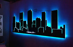 vibrant idea led wall decor small home inspiration canvas light up art string ideas crafts tv decoration decorative lights letters 10