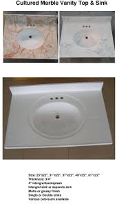 pure white cultured marble vanity top