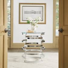 Nova Modern Glam Round Glass Top Metal Foyer Table by iNSPIRE Q Bold - Free  Shipping Today - Overstock.com - 20562248