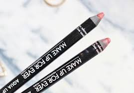 make up for ever aqua lipliners in 2c rosewood and 3c review and swatch