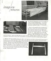 Inspira Quilting Frame Assembly Instructions