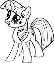 Twilight Sparkle Coloring Pages My Little Pony Coloring Pages