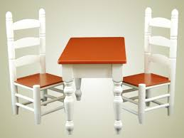 Farmhouse Collection Farm Table Chairs For American Girl Doll