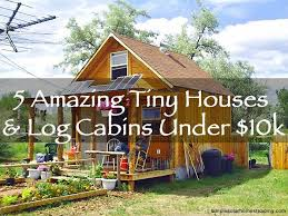 Small Picture 5 Amazing Tiny Houses Log Cabins Under 10k Off Grid World