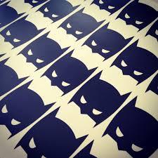 super hero batman masks removable vinyl wall decal
