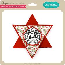 Magic Fold Star Card Nativity
