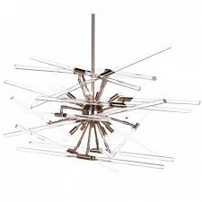 aidan gray solitude nickel chandelier with glass rods will delight the lover of contemporary interiors