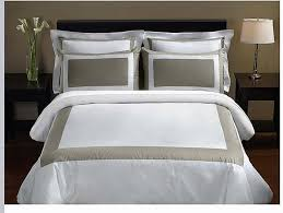 taupe and gold white hotel duvet cover set