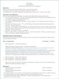 Sample Resume Canada Format Canadian Resume Sample Format Free