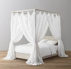 Voile Tie-Top Bed Canopy