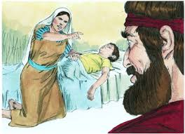 Image result for Elijah and the dead boy in the bible