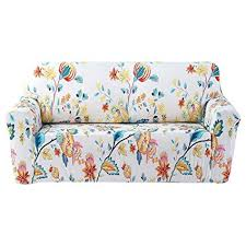 forcheer stretch couch covers sofa slipcovers ed loveseat cover seat furniture protector printed 4