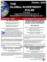 The Global Investment Pulse October 2018 Issue By Legend