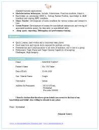 Cv Format For Bsc 2 Career Pinterest Cv Format And Resume Format