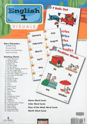 Phonics Generalizations Chart English 1 Teachers Visuals Packet 3rd Ed Bju Press
