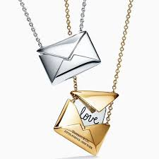 our tiffanycharms sweet nothings envelopes pendants in 18k