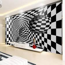 Black And White Mural Design Uhu 3d Wallpaper Mural Wallpaper Modern 3d Geometric Black