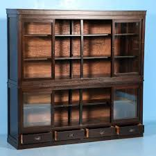 bookcase with sliding glass doors antique bookcase with sliding glass doors throughout or cabinet remodel oak
