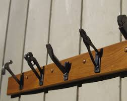 Repurposed Coat Rack Welded coat hooks Etsy 12
