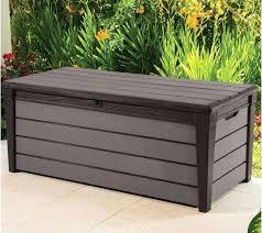 full image for brushwood plastic wood effect plastic garden storage box wood garden storage boxes outdoor