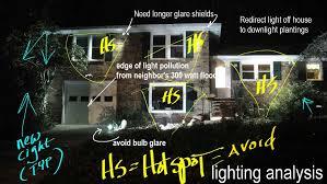 led lighting < led landscape lighting diagram showing evaluation of led landscape lighting installation front of house in front yard >front yard entrance landscape