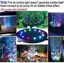 FreeShip] Đèn Q12 bóng LED chuyển đổi nhiều màu sắc sủi bọt khí dùng để  trang trí bể cá   Đèn hồ cá