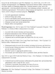 Resume Templates: Medical Office Administrative Assistant