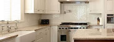 Light Beige Countertop Backsplash Tile Idea, Chevron And Subway Tile  Patterns, White Kitchen