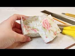 Как сделать коробочку для подарка за 10 минут! - YouTube