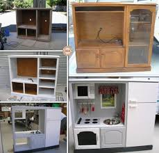 Play Kitchen Wonderful Diy Kids Play Kitchen From Old Nightstand