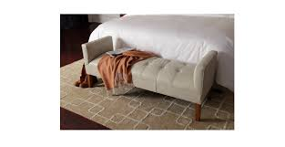 Christmas Bedroom Faux Lear Upholsterymaterial Flip Storage Rolled End  Brown Storage Bench ...