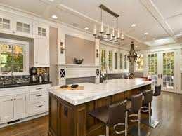Best Kitchen Island Design Ideas With Ceiling Lamps And White Counterto