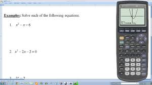 finding the real solutions of an equation by using a graphing calculator