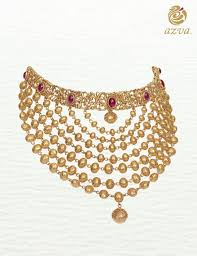 Modern Jewellery Design Azva Gold Necklace Modern Bridal Jewellery Goldjewellery