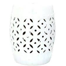 white outdoor side table. White Outdoor Side Table Ceramic Lattice Coin Tables D