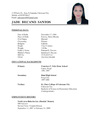 Home Design Ideas 89 Exciting Example Of A Simple Resume Examples
