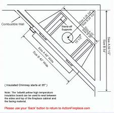 to see fuego flame zero clearance fireplace framing dimensions a