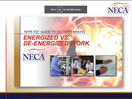 Energized Electrical Work Permit Flow Chart Nfpa 70e Guide To Decision Making Energized Vs De Energized